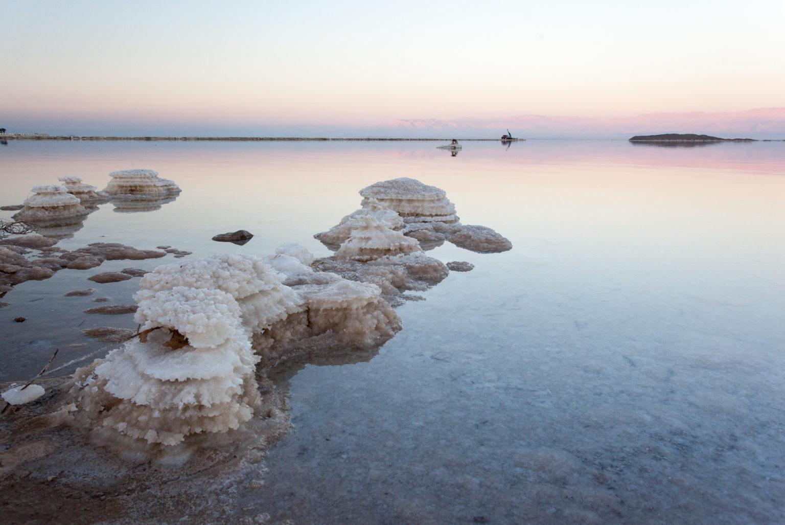 Mrtvé moře - usazeniny