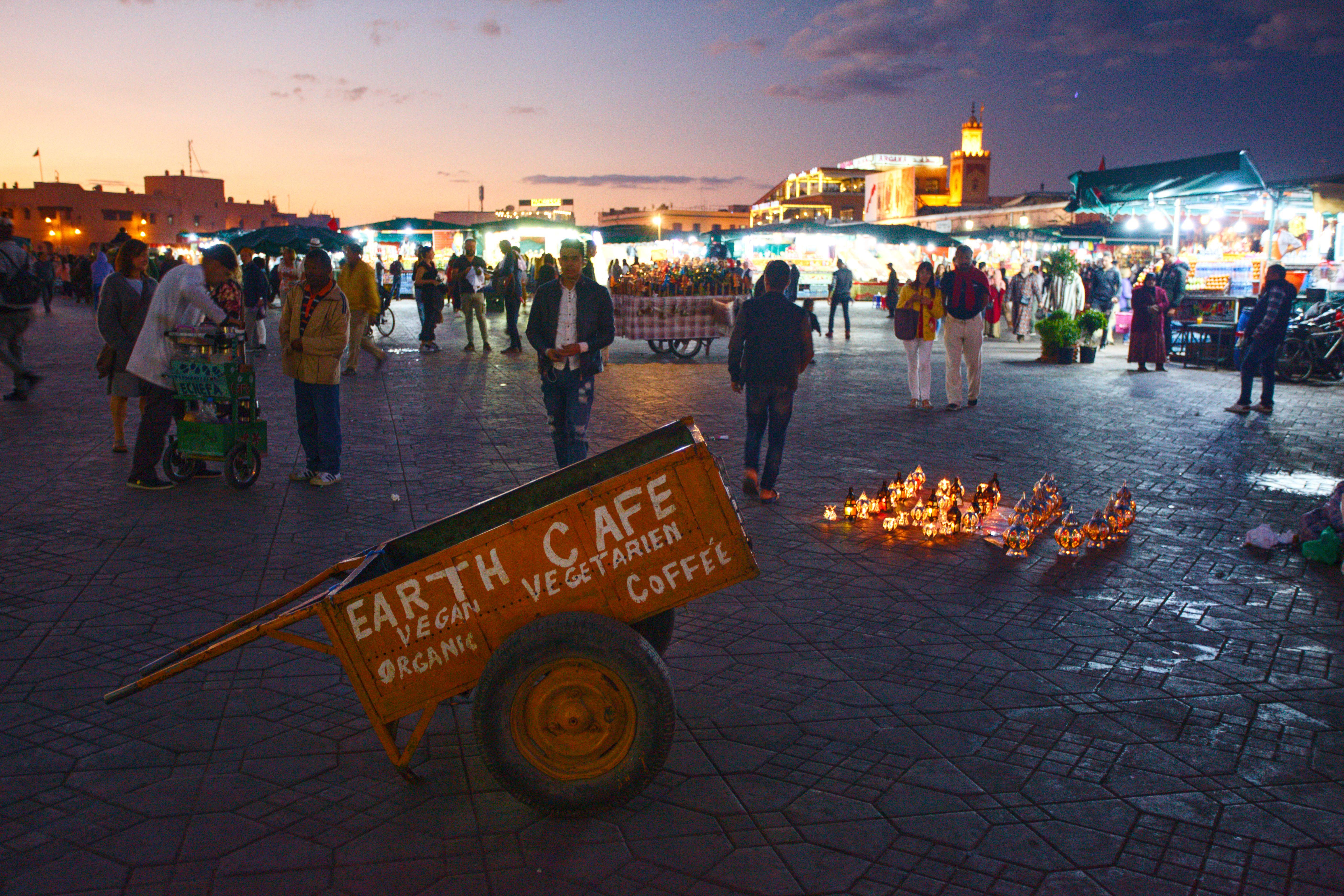 Marrákeš - vozík na náměstí